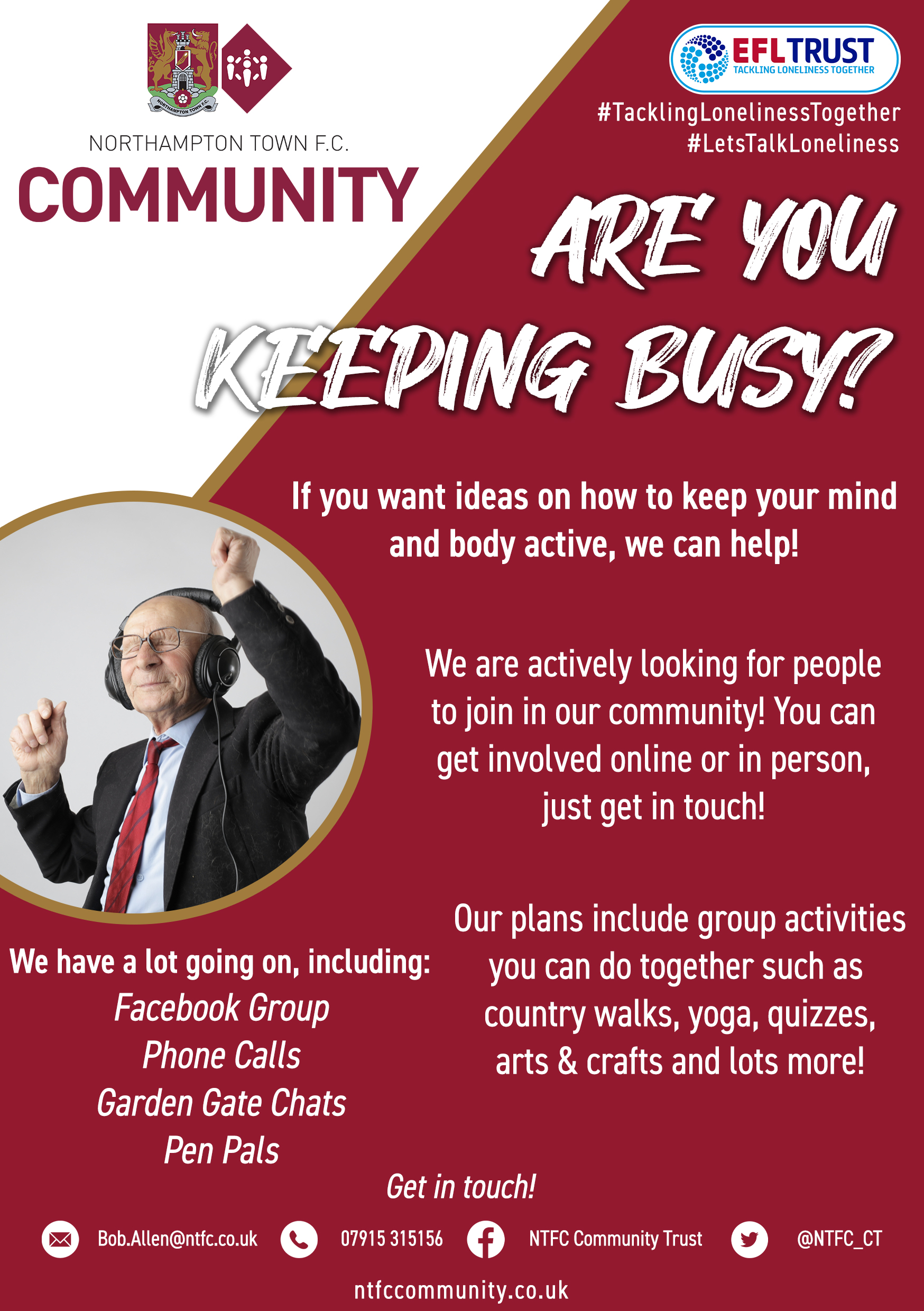 Tackling Loneliness Together Flyer